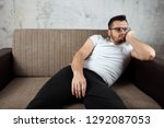 the guy in the white shirt is... | Shutterstock . vector #1292087053