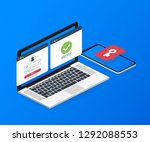 duo authentication concept... | Shutterstock .eps vector #1292088553