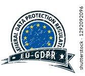 eu gdpr label illustration | Shutterstock .eps vector #1292092096