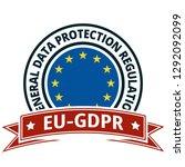eu gdpr label illustration | Shutterstock .eps vector #1292092099