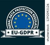 eu gdpr label illustration | Shutterstock .eps vector #1292092126