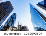 looking up at modern london... | Shutterstock . vector #1292093509