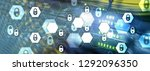 cyber security  data protection ... | Shutterstock . vector #1292096350