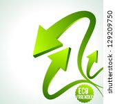 illustration of recycle arrow... | Shutterstock .eps vector #129209750