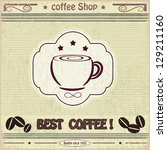 vintage label coffee shop | Shutterstock . vector #129211160