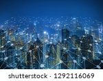 network connection in the city  ... | Shutterstock . vector #1292116069