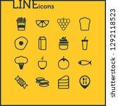 vector illustration of 16 food...   Shutterstock .eps vector #1292118523