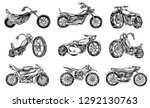 Set Of Vintage Motorcycles....
