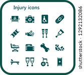 injury icon set. 16 filled... | Shutterstock .eps vector #1292132086