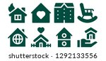 mortgage icon set. 8 filled... | Shutterstock .eps vector #1292133556