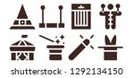 trick icon set. 8 filled trick ... | Shutterstock .eps vector #1292134150