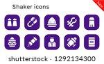 shaker icon set. 10 filled... | Shutterstock .eps vector #1292134300