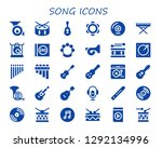 song icon set. 30 filled song... | Shutterstock .eps vector #1292134996