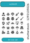 worker icon set. 25 filled... | Shutterstock .eps vector #1292135026