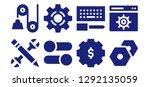 cogwheel icon set. 8 filled... | Shutterstock .eps vector #1292135059