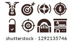 conceptual icon set. 8 filled... | Shutterstock .eps vector #1292135746