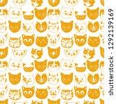 cat snouts  cat breeds ... | Shutterstock .eps vector #1292139169