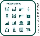 historic icon set. 16 filled... | Shutterstock .eps vector #1292139883