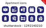 apartment icon set. 10 filled... | Shutterstock .eps vector #1292140210