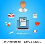 online doctor  internet... | Shutterstock .eps vector #1292143030