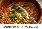 serbian national cuisine dish... | Shutterstock . vector #1292153959