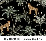 beautiful tropical vintage palm ... | Shutterstock .eps vector #1292161546