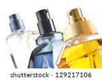 composition with perfume... | Shutterstock . vector #129217106