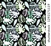 tropical leaf vector seamless...   Shutterstock .eps vector #1292171119