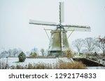 a dutch winter wonder land with ... | Shutterstock . vector #1292174833
