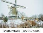 a dutch winter wonder land with ... | Shutterstock . vector #1292174836