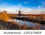 a dutch winter wonder land with ... | Shutterstock . vector #1292174839