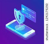 secure payments. data... | Shutterstock .eps vector #1292175250