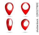 3d map pointer pin isolated on... | Shutterstock .eps vector #1292177893