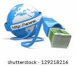 make money online. concept.... | Shutterstock . vector #129218216