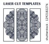 set of laser cut templates.... | Shutterstock .eps vector #1292182276