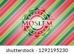 moslem christmas style badge.. | Shutterstock .eps vector #1292195230
