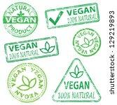 vegan and natural food. rubber... | Shutterstock . vector #129219893