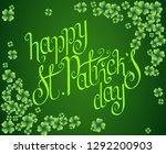 hand drawn dark green st.... | Shutterstock .eps vector #1292200903