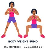 body weight sumo. wide stance... | Shutterstock .eps vector #1292206516