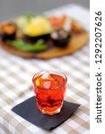 italian aperitives aperitif ... | Shutterstock . vector #1292207626