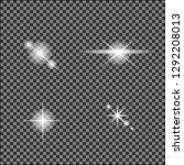 white glowing light burst out... | Shutterstock .eps vector #1292208013