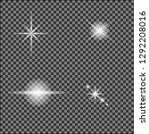 white glowing light burst out...   Shutterstock .eps vector #1292208016