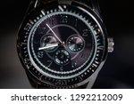 sporty man silver  watch.  | Shutterstock . vector #1292212009