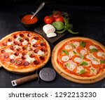 pizza margarita and pepperoni | Shutterstock . vector #1292213230