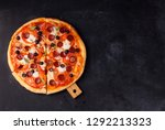 pizza margarita and pepperoni | Shutterstock . vector #1292213323