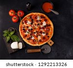pizza margarita and pepperoni | Shutterstock . vector #1292213326