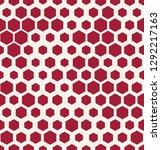 hexagon halftone seamless...   Shutterstock .eps vector #1292217163