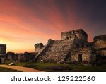 castillo fortress at sunset in... | Shutterstock . vector #129222560