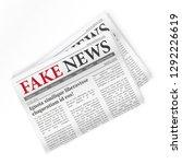 fake news realistic newspaper... | Shutterstock .eps vector #1292226619