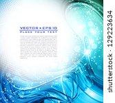 abstract blue artistic... | Shutterstock .eps vector #129223634